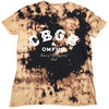CBGB - Classic Logo Unisex Dip-Dye T-Shirt - Black/Tan (Medium)