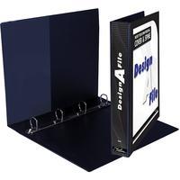 Treeline - A4 Design-A-File 4 D Ring 25mm - Black