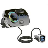 Gizzu - Bluetooth Vent-mounted Handsfree FM Transmitter + Dual USB Charger
