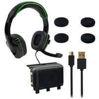 Sparkfox - SF1 Wired Over-Ear Headset / Deluxe Controller Thumb Grip Pack / 1000mAh Controller Battery Pack (Xbox One)