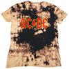 AC/DC - Logo Unisex Dip-Dye T-Shirt - Black/Tan (Large)