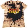 Kiss - Classic Logo Unisex Dip-Dye T-Shirt - Black/Tan (Medium)