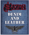 Saxon - Denim & Leather Standard Patch