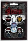 Saxon - Wheels of Steel Button Badges (Set of 5)