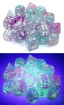 Chessex - Set of 36 - D6: 12mm -  Nebula: Wisteria/ White Luminary