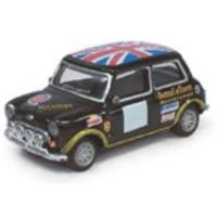 Cararama - 1/72 - Mini Cooper - Racing, Black With Union Jack Roof (1:72)