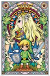 The Legend Of Zelda - Stained Glass Poster (61x91,50cm)