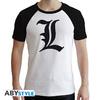 Death Note - L Symbol White Premium (Unisex T-Shirt X-Large)
