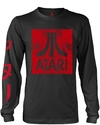 Atari - Box Logo Long sleeved Unisex T-Shirt - Black (Large)