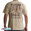 One Piece - Wanted Ace Basic Unisex T-Shirt - Sand (XX-Large)