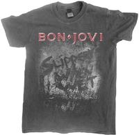Bon Jovi - Slippery When Wet (Vintage Wash) Unisex T-Shirt (Large) - Cover