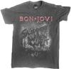 Bon Jovi - Slippery When Wet (Vintage Wash) Unisex T-Shirt (Large) Cover