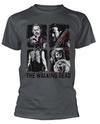 The Walking Dead - 4 Characters Unisex T-Shirt (Medium)