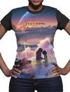 Your Name - Sunset Ladies T-Shirt (Large)