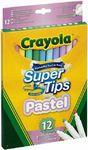 Crayola - Pastel SuperTips Pens (Pack of 12)
