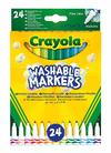 Crayola - Washable Fine Line Markers (Pack of 24)
