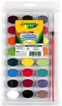 Crayola - Washable Watercolours with Brush (24 Colours)