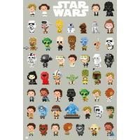 Star Wars: 8-Bit Characters (Maxi Poster 61x91,50 Cm)