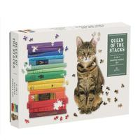 Galison - Queen of the Stacks 2-in-1 Puzzle Set (650 Pieces) - Cover