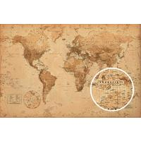 World Map: Antique Style Maxi Poster (61x91,50cm)