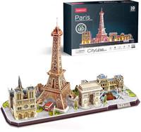 CubicFun - Paris City Line 3D Puzzle With LED Unit (115 Pieces)