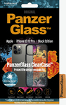 PanzerGlass - ClearCase for iPhone 12/12 Pro AntiBacterial - Black (Smartphone Case)