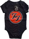 Foo Fighters - FF Logo Babygrow - Black (3-6 Months)