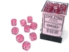 Chessex - 12mm D6 36 Dice Block - Borealis Pink with Silver