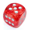 Chessex - 30mm D6 Single Dice - Luminary Nebula Red with Silver