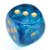 Chessex - 30mm D6 Single Dice - Luminary Nebula Oceanic with Gold