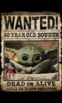 Star Wars: The Mandalorian – Wanted: the Child Men's Black T-Shirt (Large)