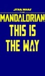 Star Wars: the Mandalorian – This Is the Way Men's Navy T-Shirt (Large)