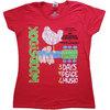 Woodstock - Vintage  Classic Poster Ladies T-Shirt - Red (Medium)