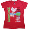Woodstock - Vintage  Classic Poster Ladies T-Shirt - Red (X-Large)