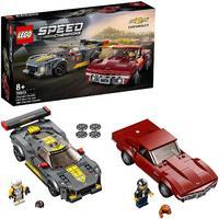 LEGO® Speed Champions - Chevrolet Corvette C8.R Race Car and 1968 Chevrolet Corvette (512 Pieces)