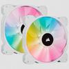 Corsair - iCUE SP140 RGB ELITE Performance 140mm White PWM Fan - Dual Fan Kit with Lighting Node CORE