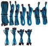 Corsair - Premium Individually Sleeved PSU Cables Pro Kit Type 4 Gen 4 - Blue/Black