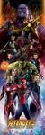 Avengers: Infinity War - Characters Door Poster (53x158cm)