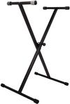 Tecnix Deluxe Single Braced X-Brace Keyboard Stand (Black)