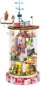 Robotime - Bloomy House Glass Dollhouse Kit (193 Pieces)