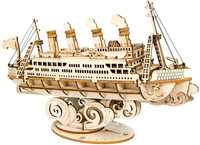 Robotime - CruiseShip Building Kit (145 Pieces)
