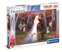 Clementoni - Disney: Frozen II - Supercolor Puzzle (104 Pieces)