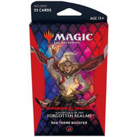 Magic: The Gathering - Adventures in the Forgotten Realms Theme Booster - Red (Trading Card Game)
