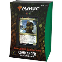 Magic: The Gathering - Adventures in the Forgotten Realms Commander Deck - Draconic Rage (Trading Card Game)