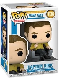 Funko Pop! Television - Star Trek - Captain Kirk In Chair Vinyl Figure (1136)