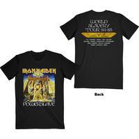 Iron Maiden - Powerslave World Slavery Tour Unisex T-Shirt - Black (Large)