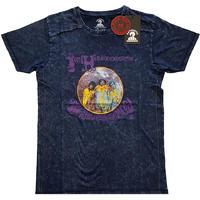 Jimi Hendrix - Experienced Snow Wash Unisex T-Shirt - Navy (Medium)