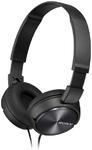 SonyFolding Aux Headphones - Black