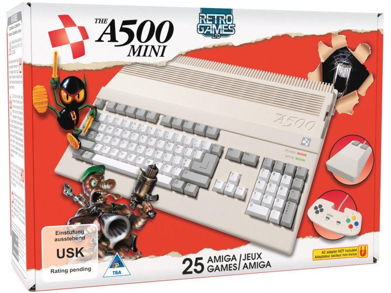 The A500 Mini Console - includes 25 Amiga Games (Retro)