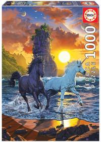 Educa - Unicorns On Beach Puzzle (1000 Pieces)
